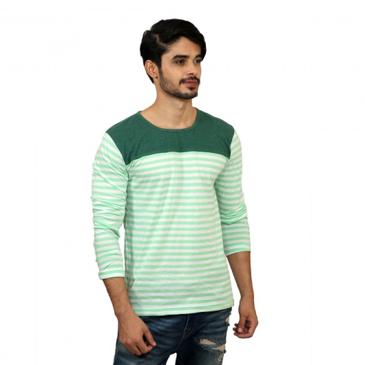 Solid Full Sleeve  Light Green T-shirt -  Magnoguy