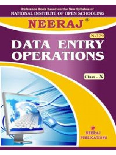 NIOS Guide 229,229 Data Entry Operations Class-X - English NIOS Guide