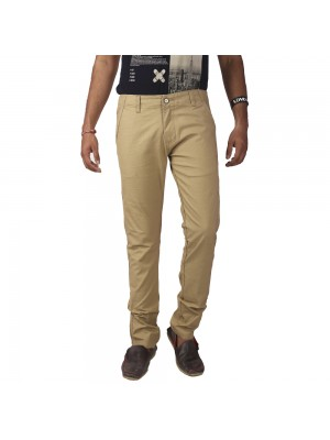 ReFocus Beige Casual Trousers for Men