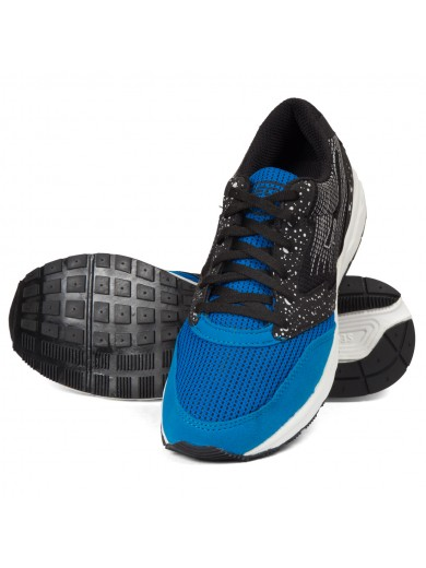 Sega Black Blue Marathon Shoes