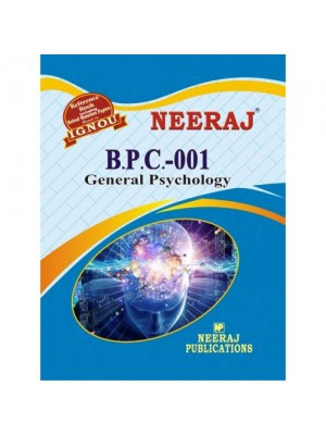 BPC 1 General Psychology ( IGNOU Guide Book For BPC1 ) English Medium