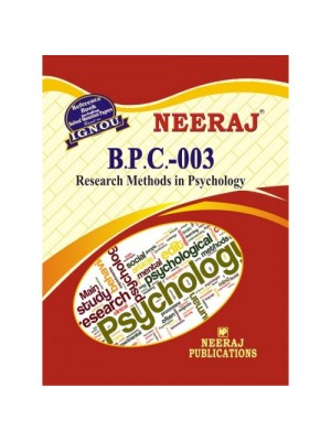 BPC 3 Research Methods in Psychology ( IGNOU Guide Book For BPC3 ) English Medium