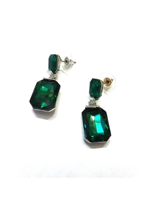 Trendmagnet Bottle Green Fashion Earrings