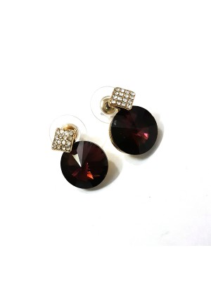 Trendmagnet Wine Red Elegant Fashion Earrings