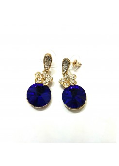 Trendmagnet Saphire Blue Stone Earrings