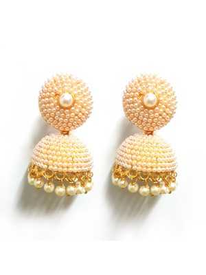 Trendmagnet Pearl Jhumki Earrings