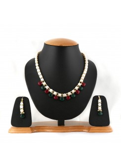 White Pure Pearl Necklace Set-006-006
