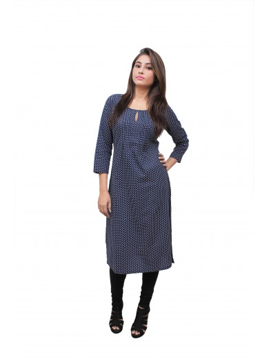 Magnogal Black Kurti For Women RS7600-B