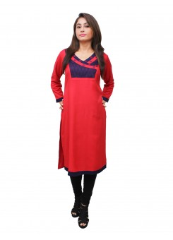 Magnogal Red Kurti For Women RS7600-D