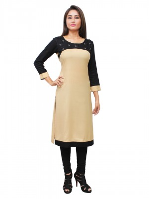 Magnogal Beige Kurti For Women RS7600-E