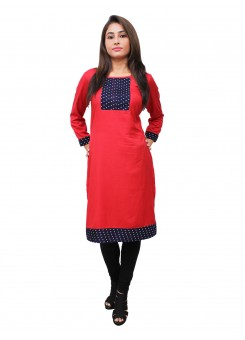 Magnogal Red Kurti For Women RS7600-F