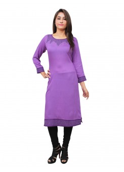 Magnogal Purple Kurti For Women RS7600-H