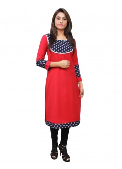 Magnogal Red Kurti For Women RS7600-I