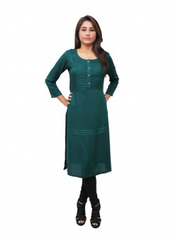 Magnogal Green Kurti For Women RS7600-K