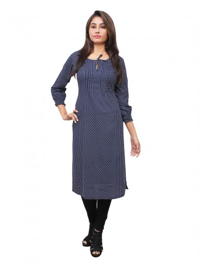 Magnogal Blue Kurti For Women RS7600-M