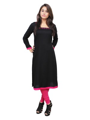 Magnogal Black Kurti For Women RS7600-P