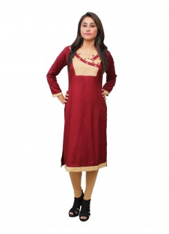 Magnogal Maroon Kurti For Women RS7600-R