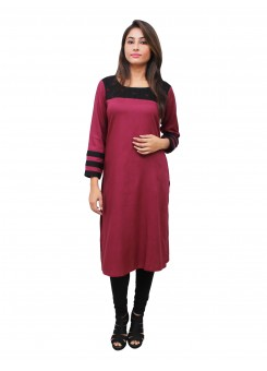 Magnogal Maroon Kurti For Women RS7600-T