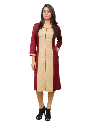 Magnogal Beige Kurti For Women RS-7700-A