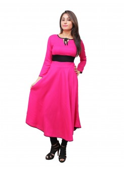 Magnogal Pink Kurti For Women RS-7700-B