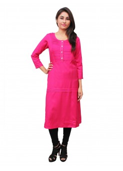 Magnogal Pink Kurti For Women RS-7700-F