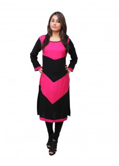 Magnogal Multi-Coloured Kurti For Women RS-7700-J