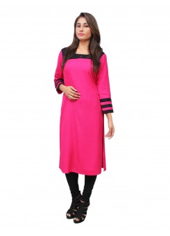 Magnogal Pink Kurti For Women RS-7700-Q