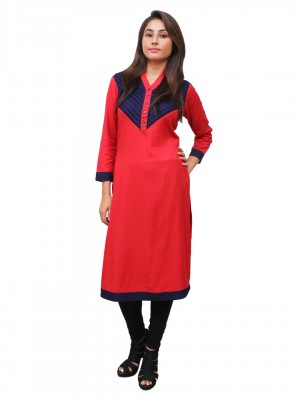 Magnogal Red Kurti For Women RS-7700-R