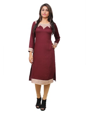 Magnogal Maroon Kurti For Women RS-7700-Z