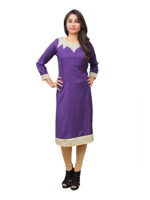 Magnogal Purple Kurti For Women RS-7800-B