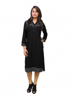 Magnogal Black Kurti For Women RS-7800-C