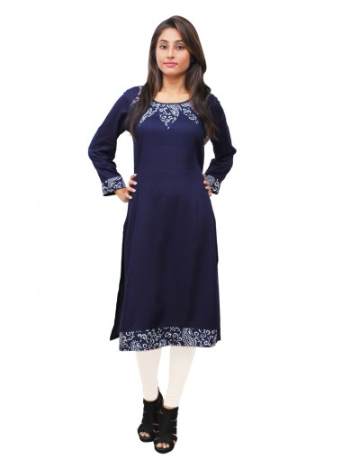 Magnogal Blue Kurti For Women RS-7800-D