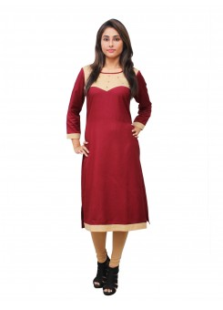 Magnogal Maroon Kurti For Women RS-7800-E