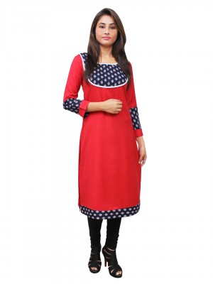 Magnogal Red Kurti For Women RS-7800-H