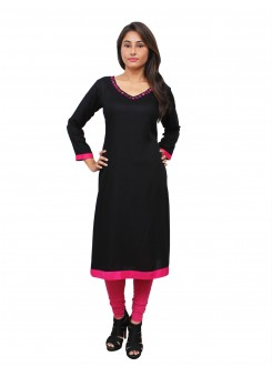 Magnogal Black Kurti For Women RS-7800-I