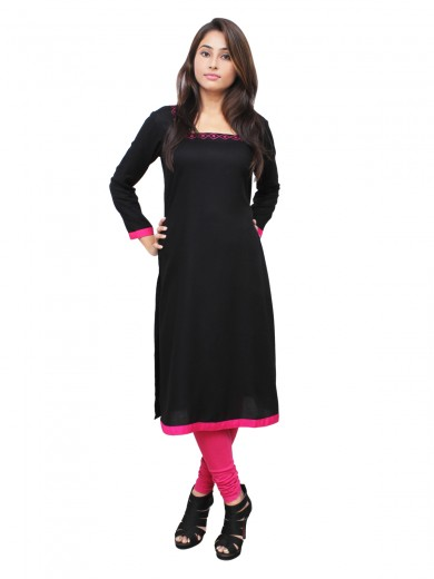Magnogal Black Kurti For Women RS-7800-J