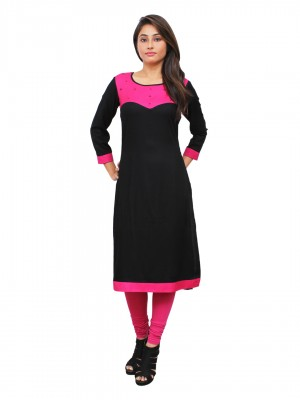 Magnogal Black Kurti For Women RS-7800-M