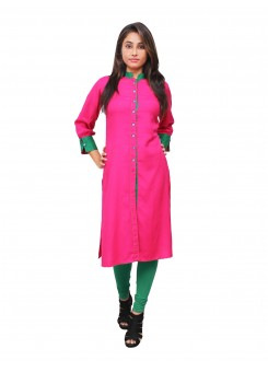 Magnogal Pink Kurti For Women RS-7800-U