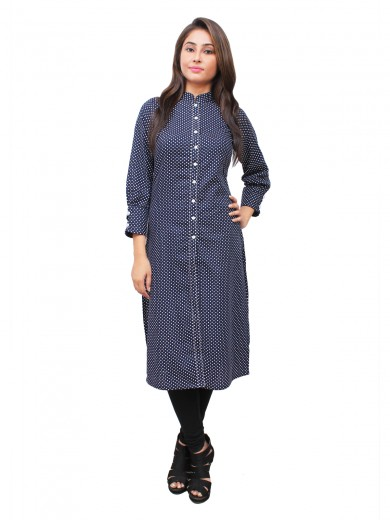 Magnogal Blue Kurti For Women RS-7800-V