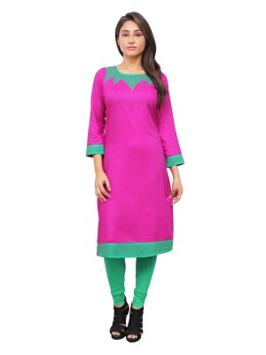 Magnogal Pink Kurti For Women RS-7800-W
