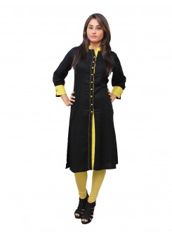 Magnogal Black Kurti For Women RS-7800-X
