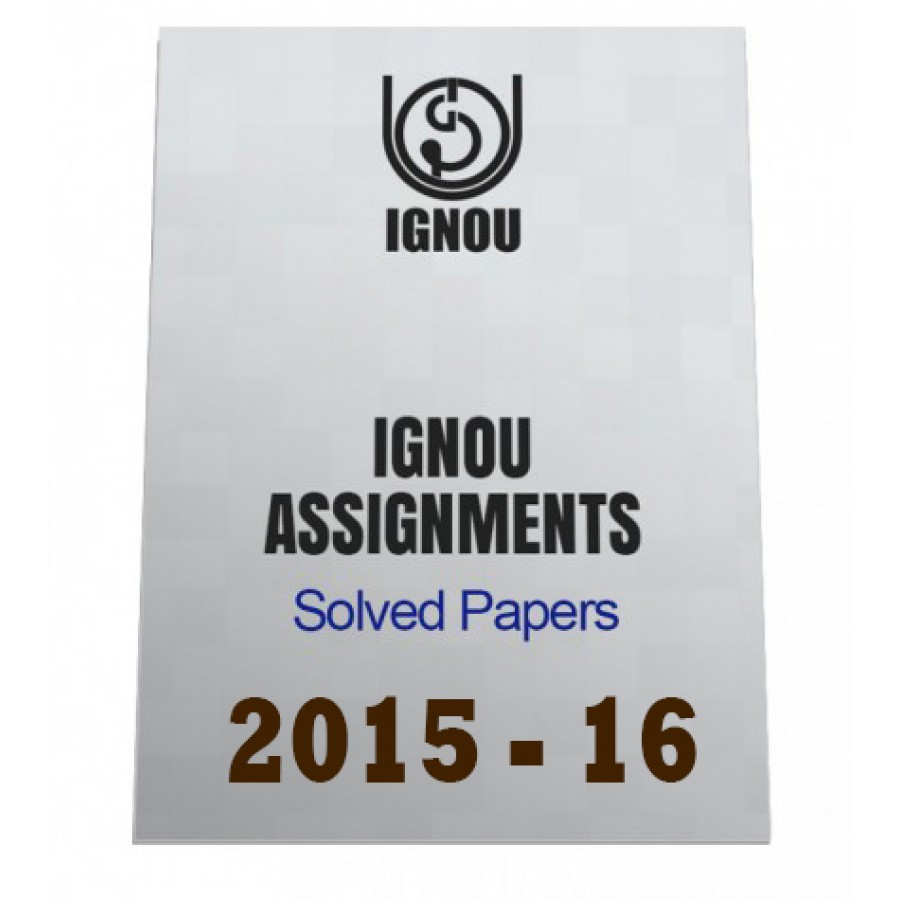 assignment paper of ignou 2015