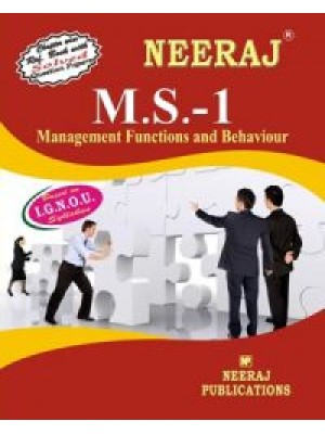 IGNOU : MS - 1 Management Functions And Behaviour