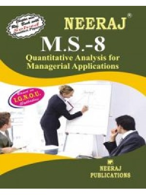 IGNOU : MS - 8 Quantitative Analysis For Managerial Applications