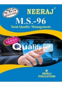 IGNOU : MS - 96 Total Quality Management