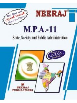 IGNOU : MPA - 11 STATE, SOCIETY AND PUBLIC ADMINISTRATION (ENGLISH)