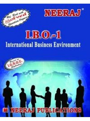 IBO-1 International Business Environment - IGNOU Guide Book For IBO1 - English Medium