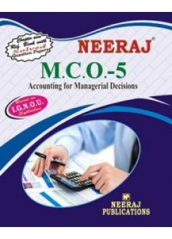 IGNOU : MCO-5 Accounting For Managerial Decisions (ENGLISH)