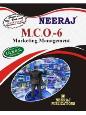 MCO-6 Marketing Management  - IGNOU Guide Book For MCO6 - English Medium