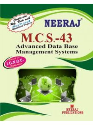 MCS - 043 Advanced Data Base Management Systems - IGNOU Guide Book For MCS043 - English Medium